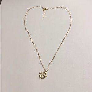 Jewelry - Dainty Gold Pretzel Necklace